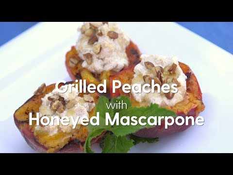 Grilled Peaches with Honeyed Mascarpone