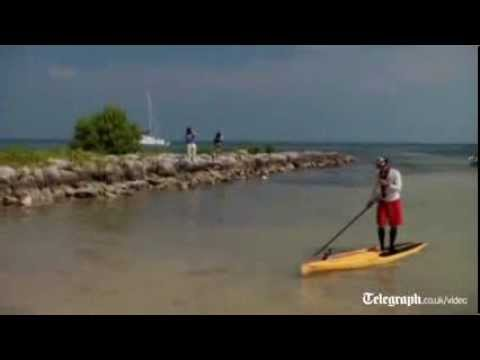 Man paddleboards from Cuba to Florida