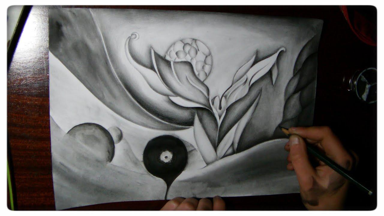 Abstract pencil drawing - Awaiting - YouTube