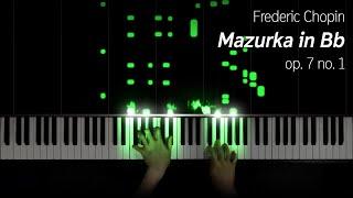 Chopin - Mazurka in Bb, op. 7 no .1