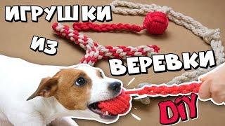 как сделать игрушку для собаки из веревки