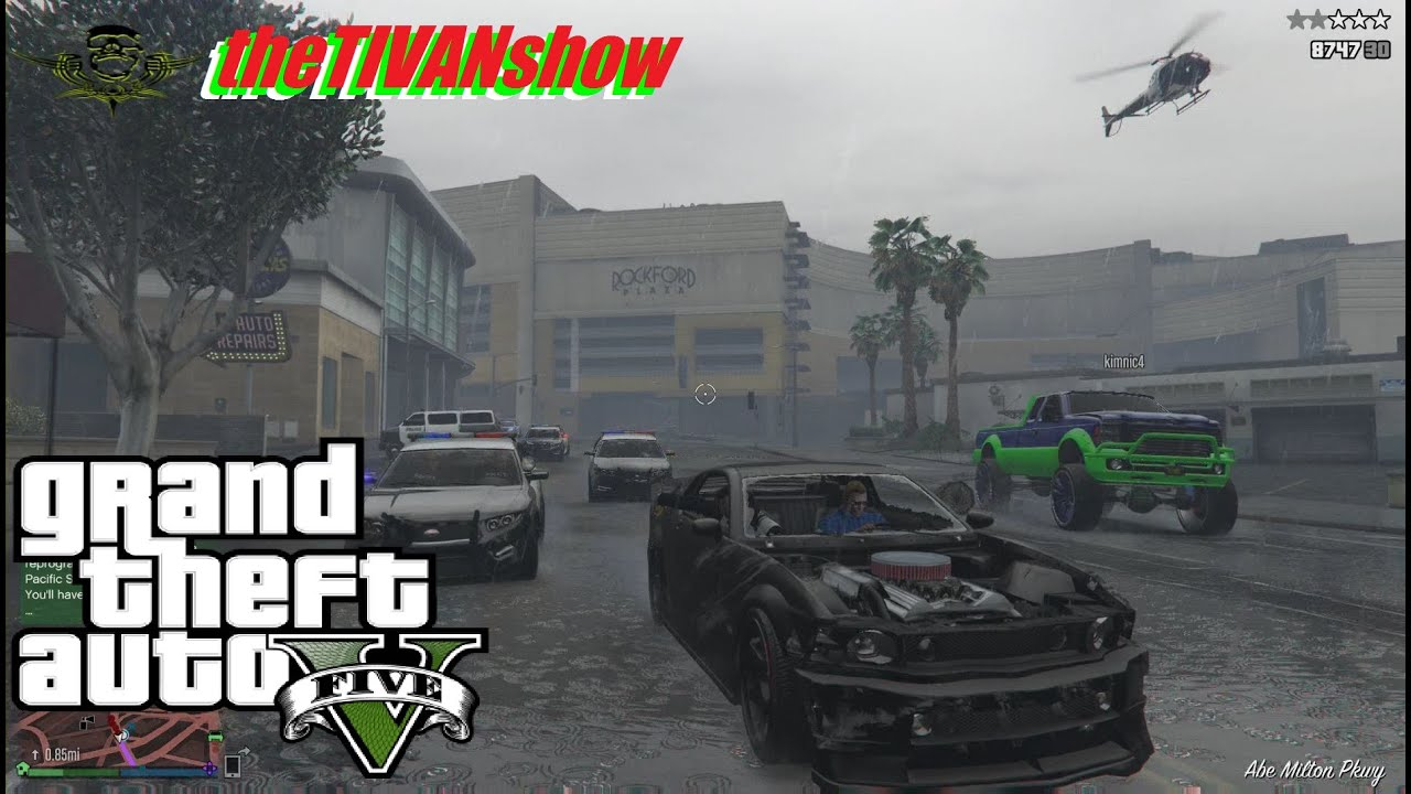 GTA5 - RUN FOR YOUR LIFE - LETS PLAY COPPERS - PS4 - LIVE STREAM