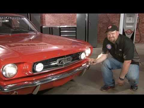 Mustang Fog Light Conversion Kit 1965 Installation - YouTube