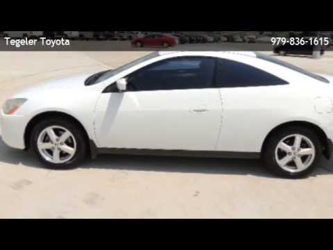 2003 honda accord lx v6 automatic coupe houston youtube. Black Bedroom Furniture Sets. Home Design Ideas