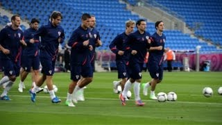 Croatia train ahead of Republic of Ireland clash