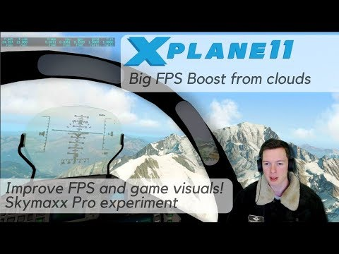 X-Plane FPS Boost - Script Hack with Cloud Tweak. Looks and performs better with SkyMaxx Pro clouds.