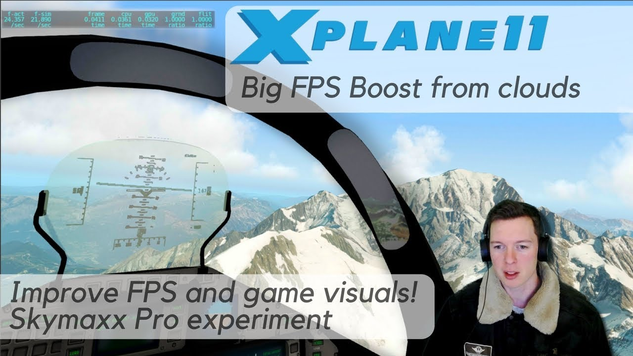 X-Plane FPS Boost - Script Hack with Cloud Tweak  Looks and performs better  with SkyMaxx Pro clouds