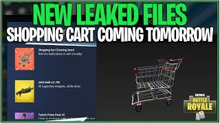 Fortnite : SHOPPING CARTS COMING TOMORROW - LEAKED ANIMATIONS/FILES! (Bataille Royale)