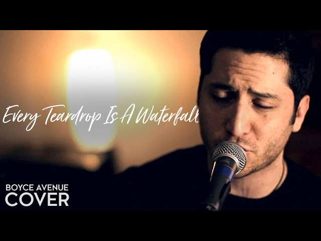 Coldplay Every Teardrop Is A Waterfall Boyce Avenue Acoustic