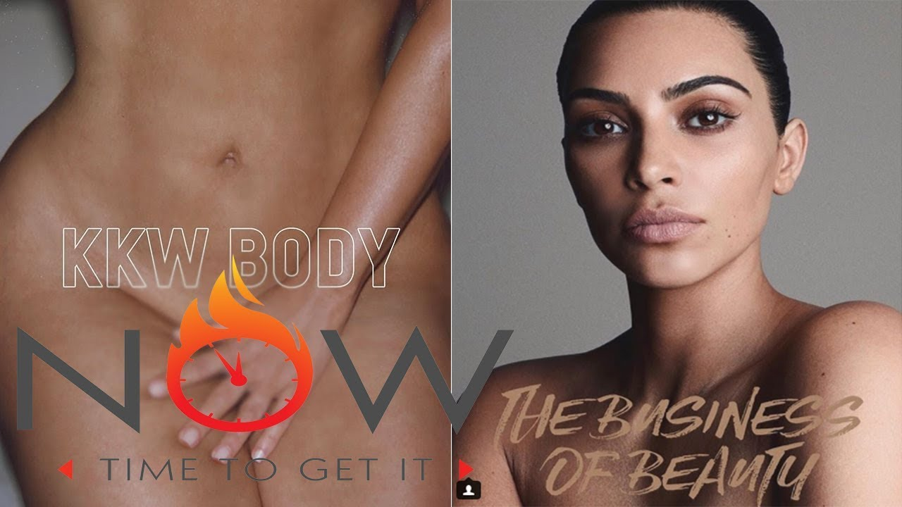 Kim Kardashian Strips Naked & Covers Herself In Glitter