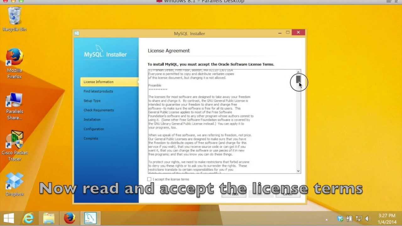 How to install MySQL Server on Windows 8 1