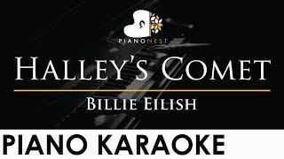 Billie Eilish - Halley's Comet - Piano Karaoke Instrumental Cover with Lyrics видео