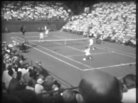 Magyarország - Anglia Davis Kupa a Margít szigeten 1966 május 14-16 Gulyás,Szikszay páros