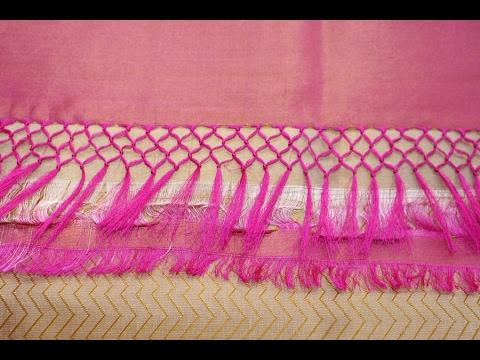 Saree Pallu Knots Design Work How To Make Saree Kuchu Work Youtube