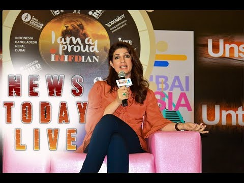 Beautiful Twinkle Khanna Interview at INIFD London