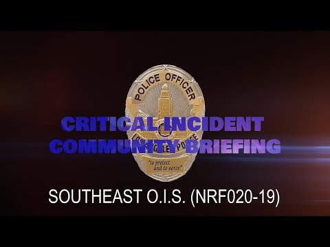 Southeast Area Officer Involved Shooting 5/20/19 (NRF020-19)