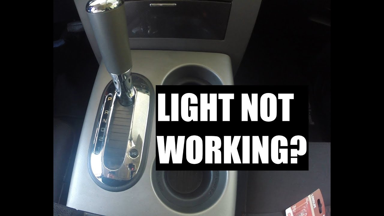 How to Change the Gear Shift Indicator Light Bulb on a 2008 Ford F150