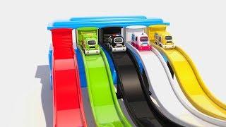 Уличные автомобили Учим Цвета с 3D Игрушками Развивающие и обучающие видео обзоры для детей