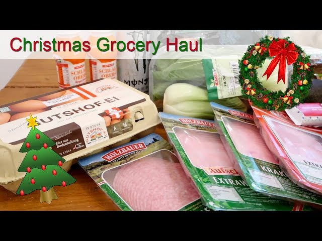 Christmas Grocery Haul | Vienna, Austria