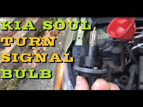How to change replace turn signal bulb in KIA SOUL