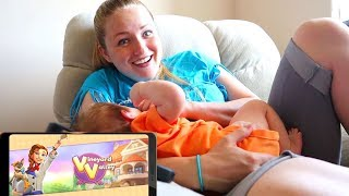A Day In The Life Of A Mother Of 5! Playing Vineyard Valley Mobile App Game!