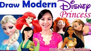 Art Challenges! A  Fun Art Video - Draw Disney Princess as MODERN GIRLS!(Art Challenge: A Fun Art Video - Draw MODERN DISNEY PRINCESS. SUBSCRIBE http://www.youtube.com/subscription_center?add_user=Fun2draw ☆Draw ..., 2016-09-09T14:30:00.000Z)