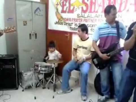 Siksik, Liglig at Umaapaw - Jian Drum Cover (2 year old)