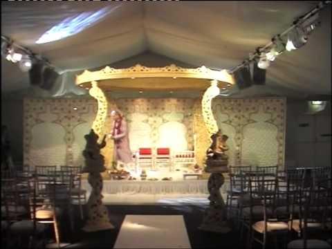 Wedding Mandap at Painshill Park, Surrey, KT11 1JE