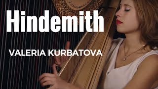 Hindemith Sonata for harp - 3rd Movement - German neoclassical music