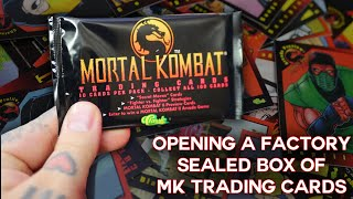 Opening an ENTIRE BOX of Factory Sealed Mortal Kombat Trading Cards - Mortal Kombat Monday.