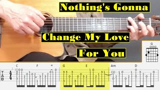 Nothing's Gonna Change My Love For You - George Benson - Fingerstyle guitar with tabs and chords