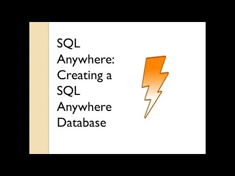 Creating A SQL Anywhere Database   Sybase Central