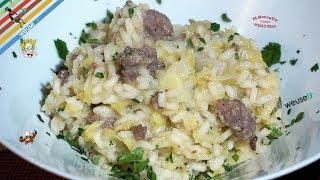 193 - Risotto cavolo e salsiccia...come accendere una miccia! (primo piatto facile ricco e saporito)