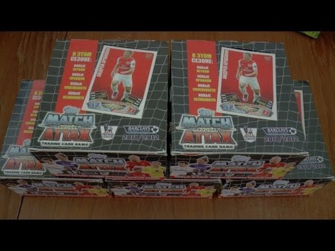 UNBOXING ☆ topps MATCH ATTAX 2011 / 2012 ☆ RUSSIAN EDITION BOOSTER BOX ☆ opening