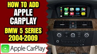 BMW 5 Series Apple CarPlay - How To Add Apple CarPlay BMW 5 Series 2004-2009 E60 E61