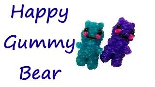 Happy Gummy Bear Tutorial by feelinspiffy (Rainbow Loom)