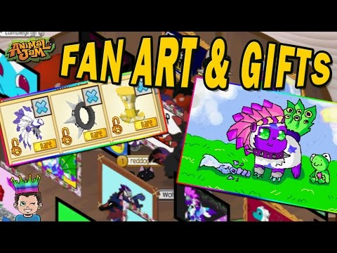 I FORGOT TO RECORD... FAN ART AND CRAZY GIFTS | ANIMAL JAM