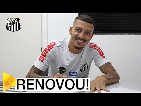 Alison renova contrato com o Santos FC