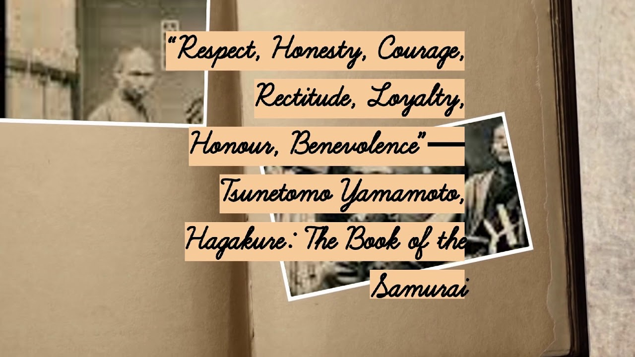 Hagakure The Book Of The Samurai Bushido Code Quotes