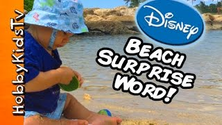 Disney Aulani Lagoon SURPRISE Word! Meet Character + Surprise Toys Frozen Blind Box by HobbyKidsTV