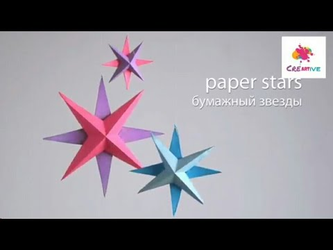 How to make 3D Paper Star Diy || Creative Art