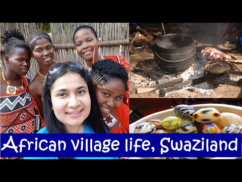 Village life of Swaziland, Africa