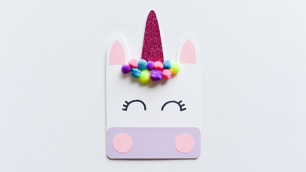 How To Make Cute Unicorn Greeting Card