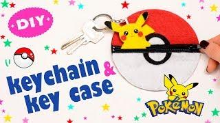 DIY Felt Pokeball Key Case & Pikachu Keychain