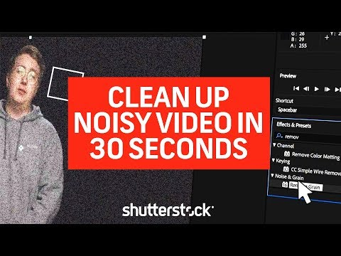 How to Clean up Noisy Video and Audio in 30 Seconds
