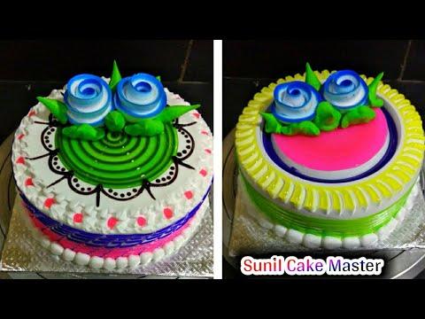 Top Amazing 5 Painepple Cake Decorations | Fancy Cake Flowers Decoration | Sunil Cake Master 🎂🎂🎂