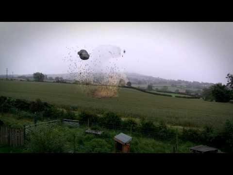 Space Ship Burst Out Of Ground