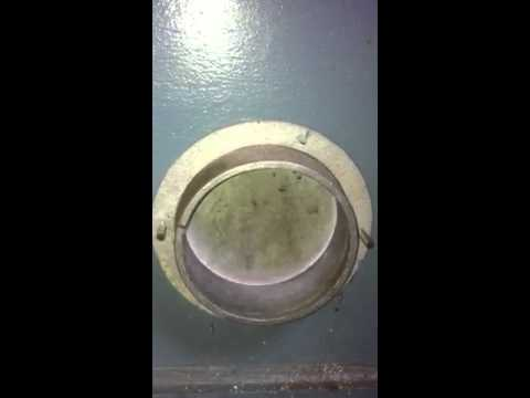 Garage door exhaust port - YouTube