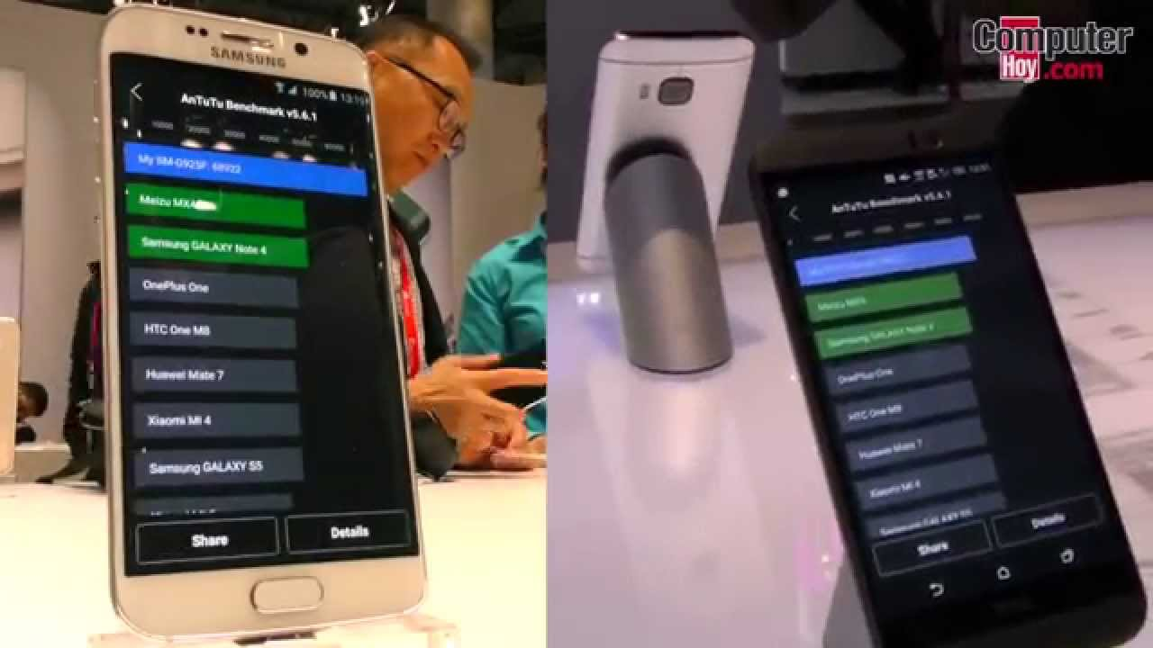 Benchmark AnTuTu: Samsung Galaxy S6 Edge vs HTC One M9 ...