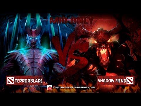 видео: terrorblade vs shadow fiend [dota 2 Битва героев мид онли]